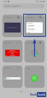 Samsung widgety kalendarz
