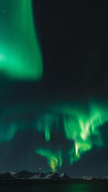 Wallpaper Aurora, Night, North, Northern Lights, Nature