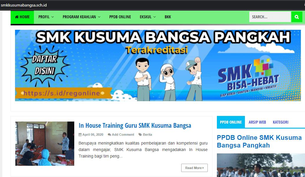 Contoh Website Sekolah SMK