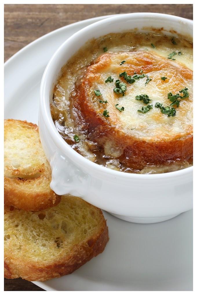 French Onion Soup Recipe - பிரெஞ்ச் ஆனியன் சூப்