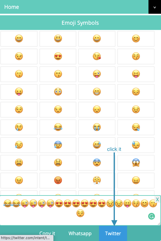 How to Share Emojis and Text Symbols On Twitter?