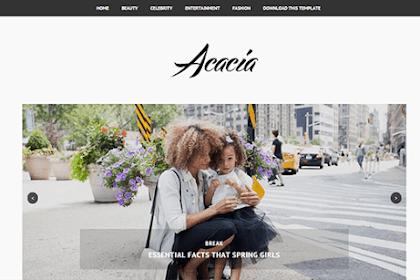 Acacia Responsive Blogger Templates Free Download