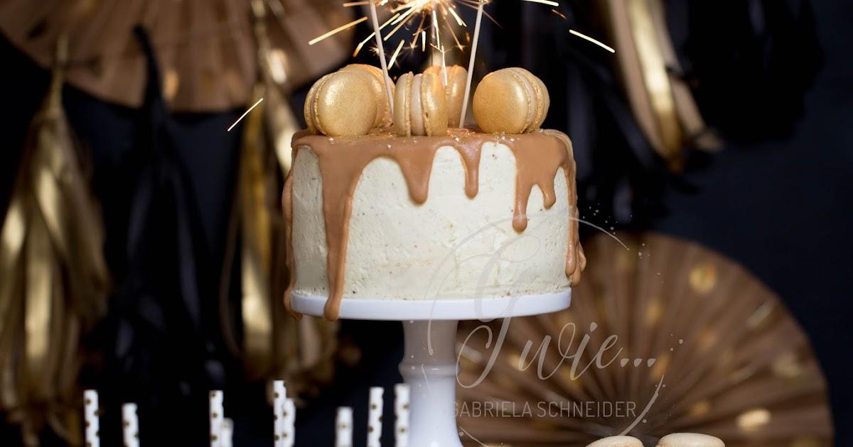 G Wie Happy New Year Walnuss Brandy Torte Mit Weisser