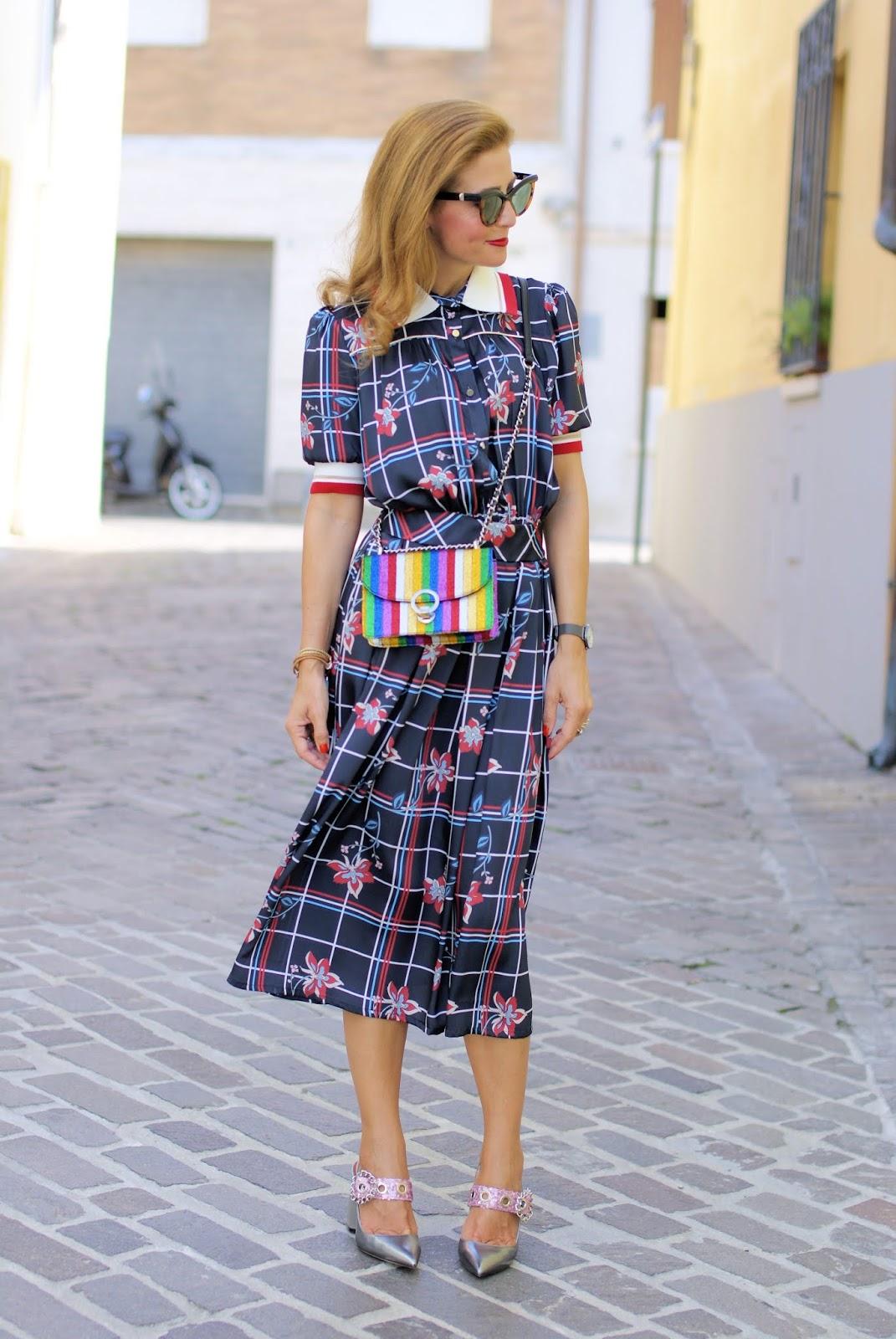 Miu Miu style white collar dress and Giancarlo Paoli shoes on Fashion and Cookies fashion blog, fashion blogger style