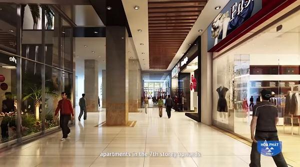 Trung tâm thương mại tại chung cư Hòa Phát Tân Mai