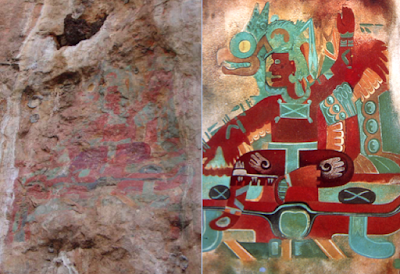 2,500-year-old Mexican cave paintings restored