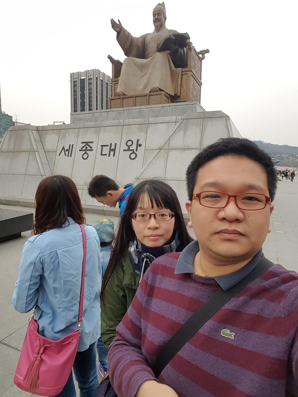 光化門廣場-世宗大王銅像