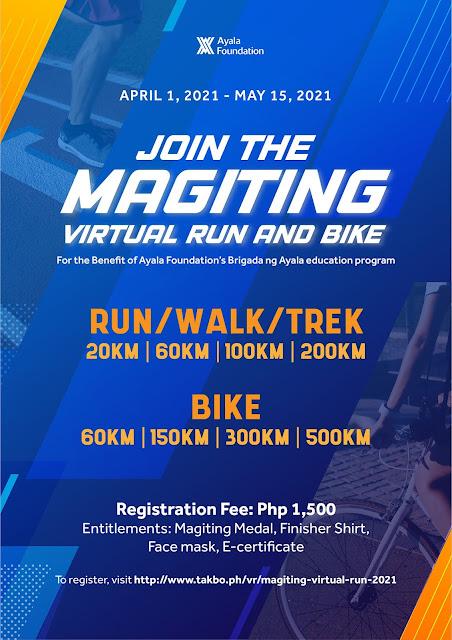 Ayala Foundation organizes first Magiting 'Virtual Run and Bike' event