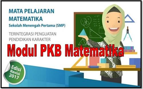 Download Modul PKB Matematika Sekolah SMP/MTs Edisi Revisi 2017