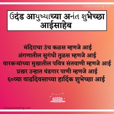 Birthday wishes in marathi for mother