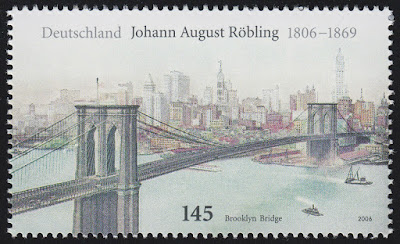 John A. Roebling, German-American engineer, designed the Brooklyn Bridge Germany 2006