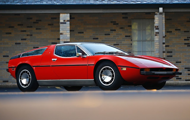 Maserati Bora 1970s Italian classic supercar