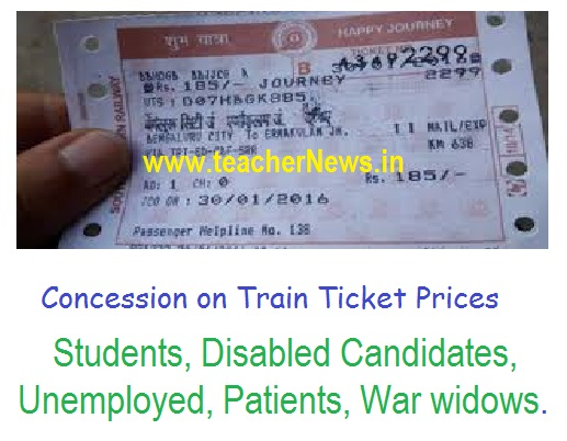 Concession on Train Ticket Prices
