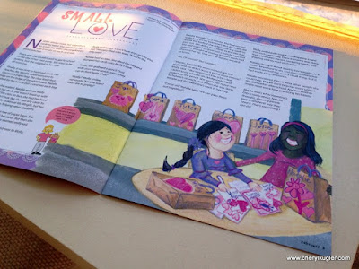 Illustration published in Sparkle magazine by Cheryl Kugler
