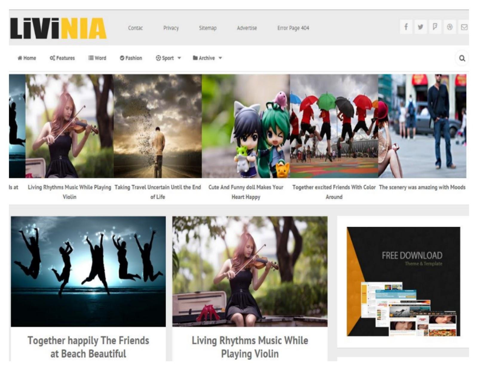 Livinia Blogger Template
