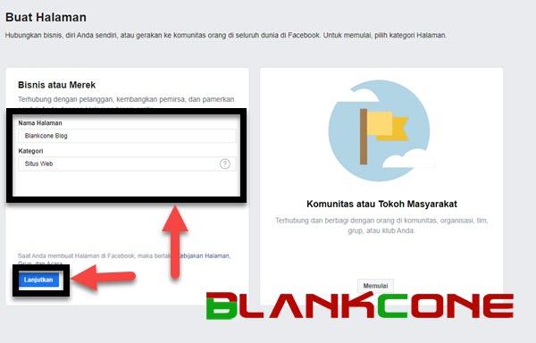 cara membuat fanspage facebook mengisi nama merek