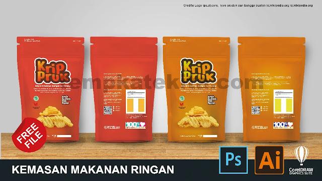 Download Desain Kemasan Makanan Ringan Kripik Coreldraw Dan Photoshop Gratis
