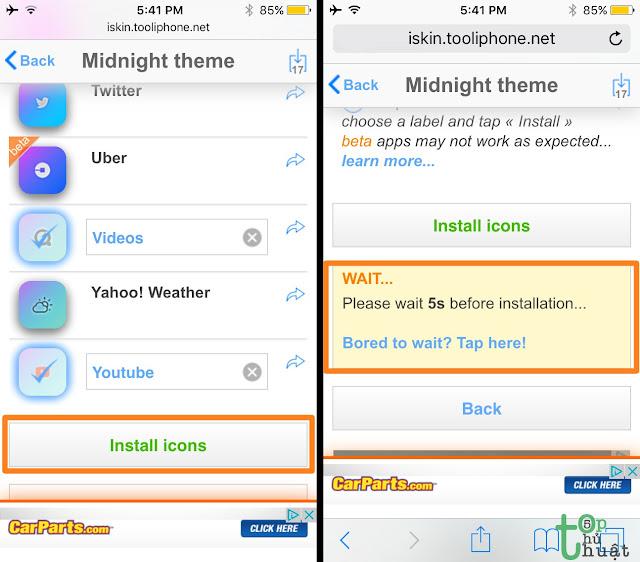 Cài đặt Themes cho iPhone không cần Jailbreak