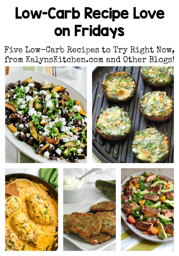 Low-Carb Recipe Love on Fridays (7-29-16) found on KalynsKitchen.com