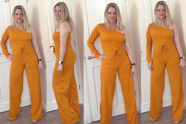 femme luxe mustard jumpsuit