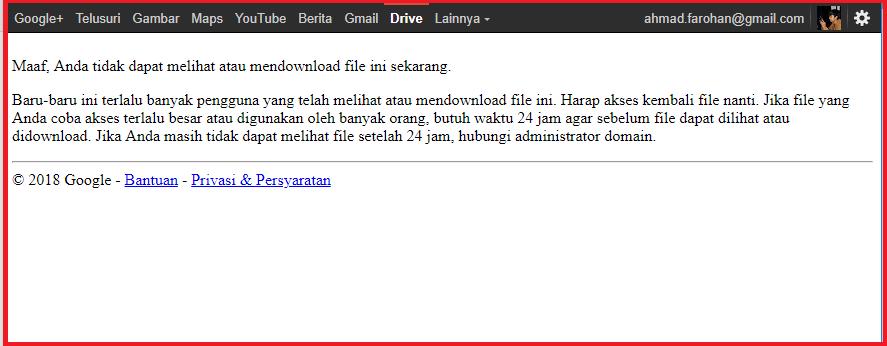 Cara Mengatasi Limit Download Di Google Drive Panduan Blog