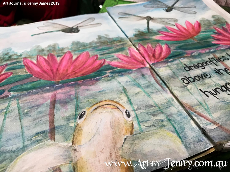 Australian Art Journal Swap : Haiku Art - Hungry are the Fish