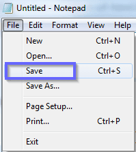 File Save Pe click kare