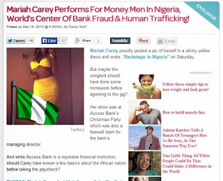 US website blasts Mariah Carey for performing in Nigeria, 'home of terror, death and fraud'