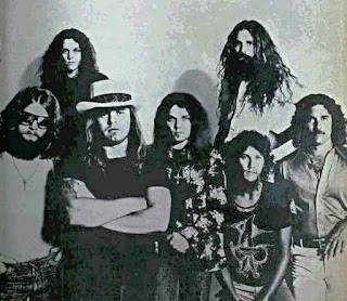 The Southern Rock band Lynyrd Skynyrd in 1977