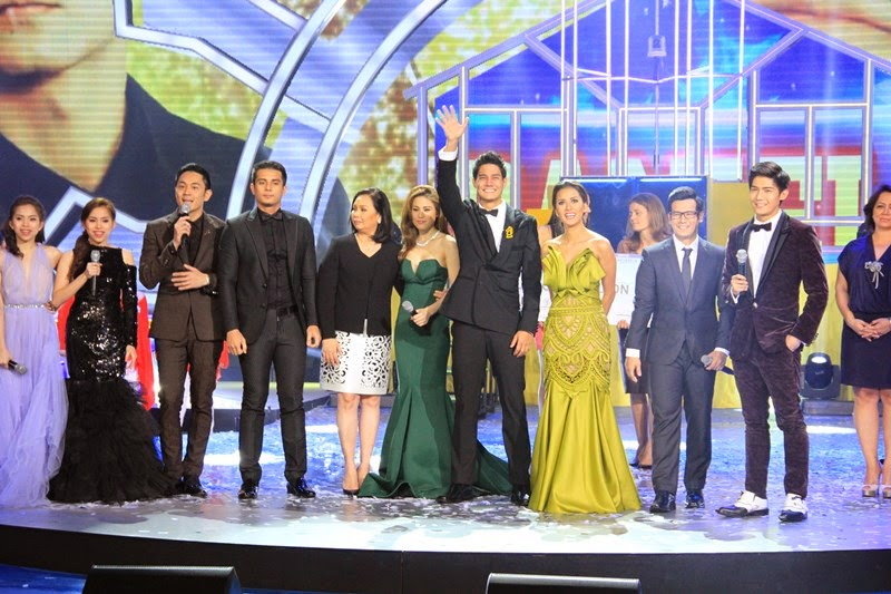 Daniel Matsunaga's winning moment with ABS-CBN broadcast head Cory Vidanes and the PBB All In hosts
