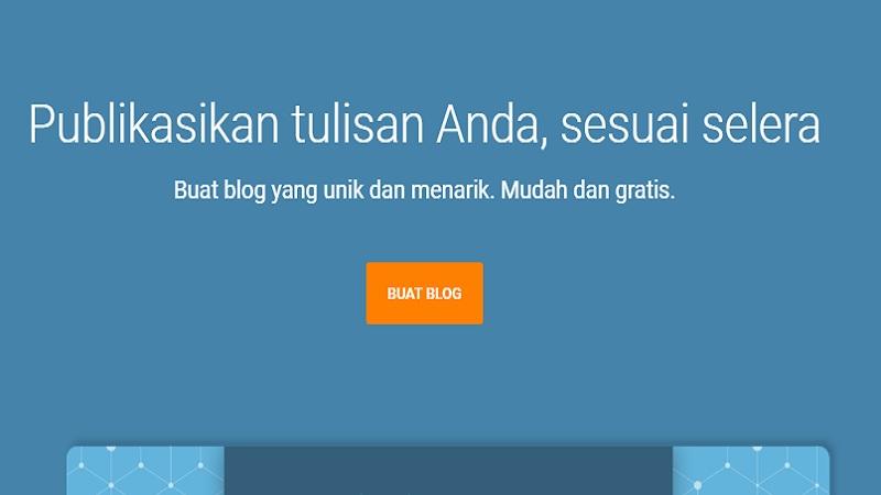 Tampilan Awal Daftar Blogger