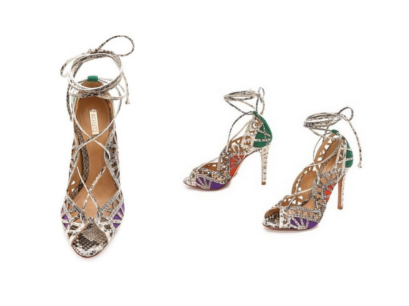 2e962c46bc85 New in! Schutz Dubianna Lace up Sandals