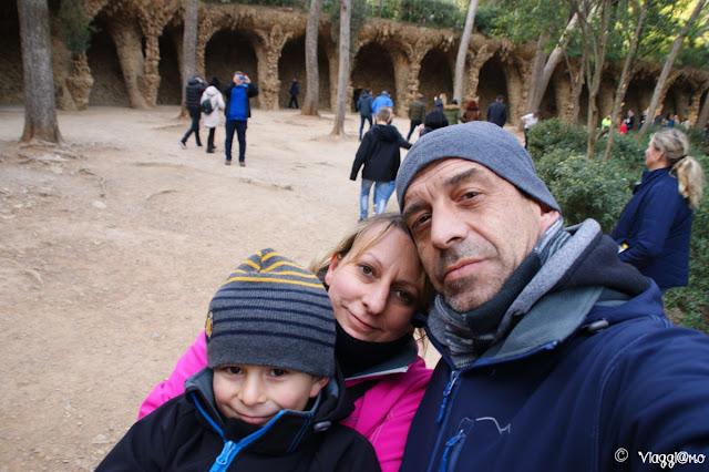 Noi di ViaggiamoHG al Park Guell