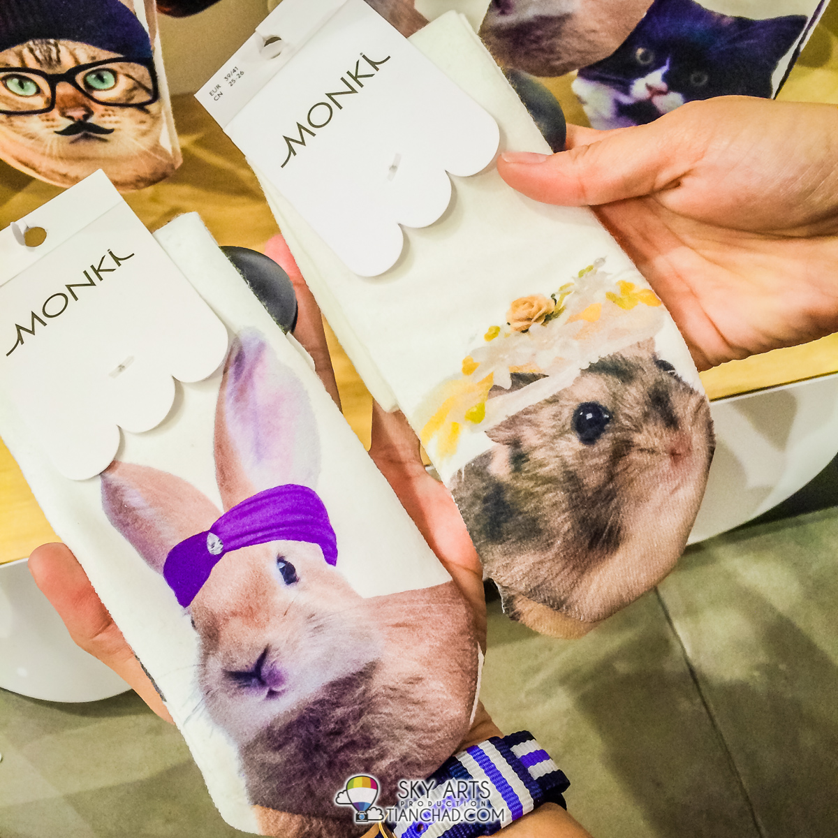 Cute socks by MONKI @ IOI City Mall