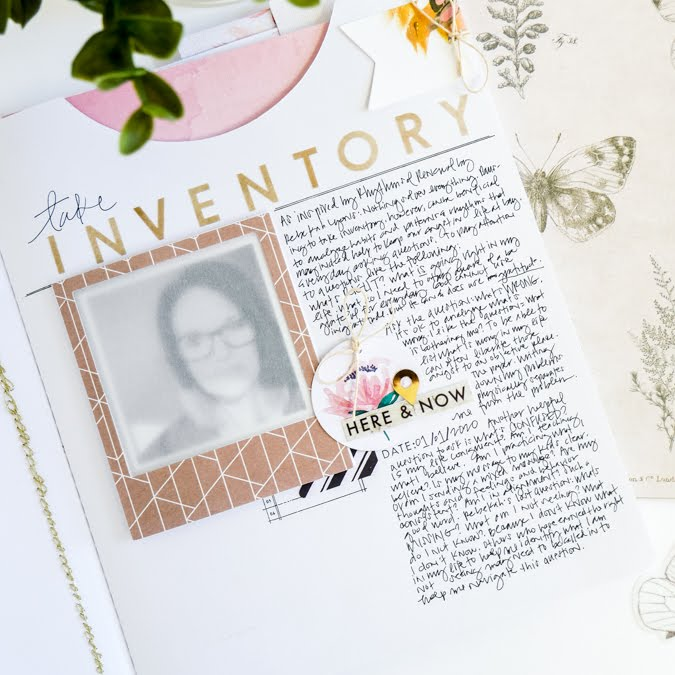 How to use the Heidi Swapp Storyline Journaler Insert and Take Inventory. As inspired by Rebekah Lyons Rhythms of Renewal . by Jamie Pate