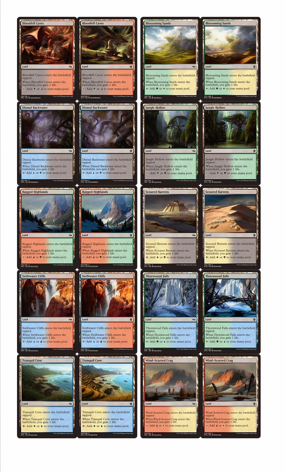 Fetch Lands fetch lands in fate reforged confirmed ~ hearth//magic