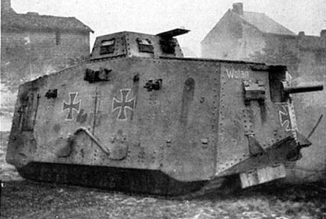 1917 German World War I tank The Sturmpanzerwagen A7V worldwartwo.filminspector.com