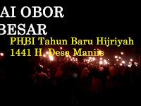 Pawai Obor dalam Sambutan Tahun Baru Islam 1441 H. di Desa Maniis menjadi yang terbesar di Kab. Majalengka