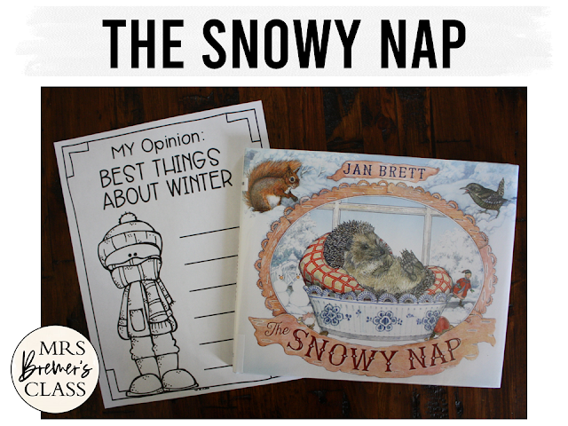 The Snowy Nap book study activities unit with Common Core aligned literacy companion activities and a craftivity for Kindergarten & First Grade