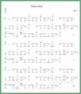not angka lagu kelap kelip lagu daerah jakarta