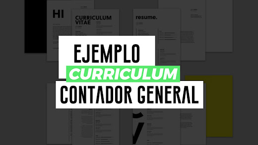 Ejemplo de curriculum vitae de contador general