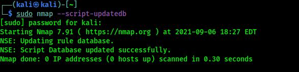 nmap script database update