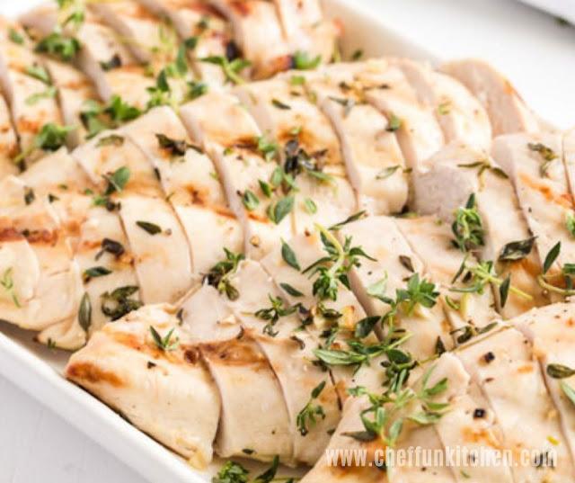 Grilled Chicken In Garlic Marinade
