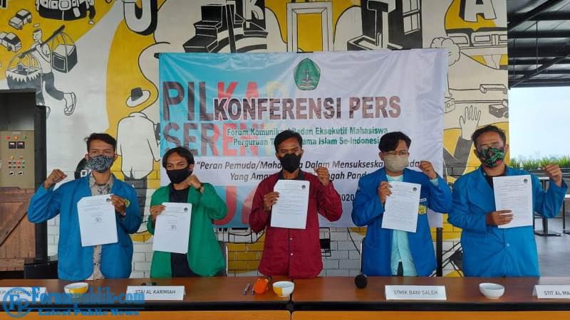 Dukung Pilkada Serentak 2020, BEM PTAI se-Indonesia Gelar Konferensi Pers