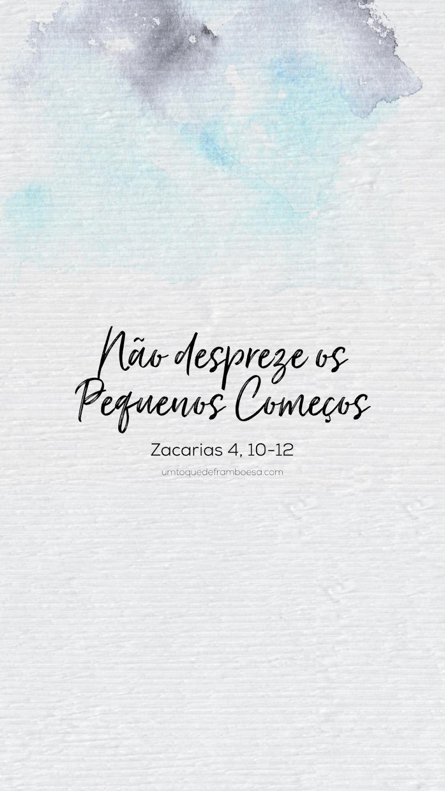Versículo bíblico curto sobre fundo aquarelado