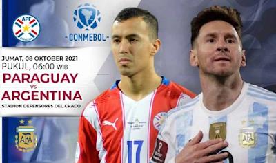 Jadwal dan Link Live Streaming 2022 World Cup Qualifications :  Paraguay vs Argentina, 8 Oktober 2021 06.00