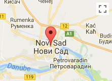 Map of Novi Sad in Serbia where Ufo footage was caught on camera.