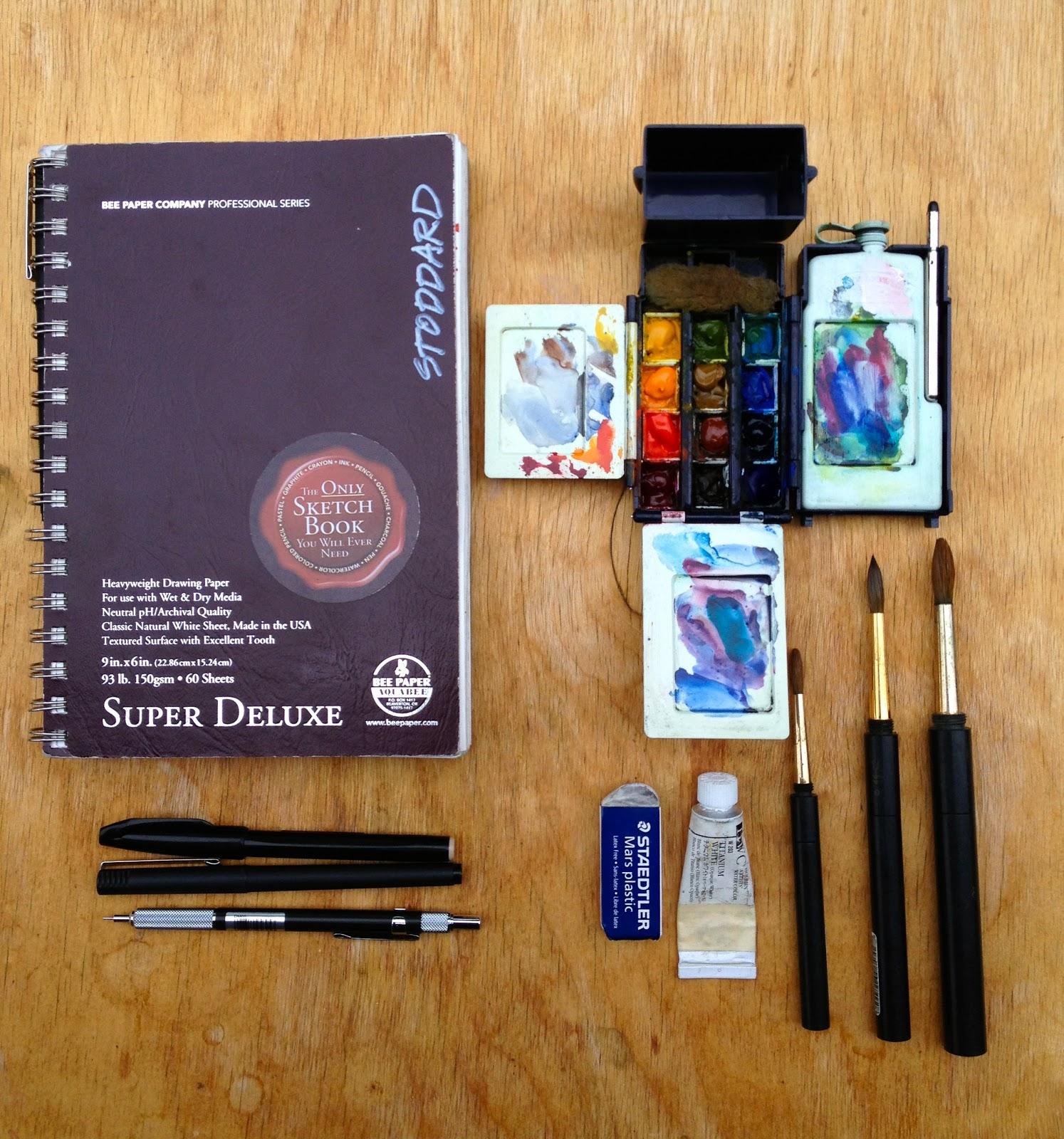Art And Life My Minimal Travel Sketching Kit