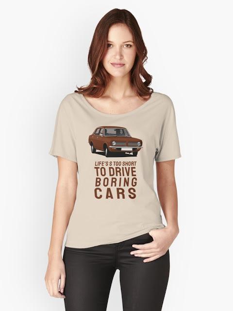 Life's too short to drive boring cars - Morris Marina t-shirt - brown