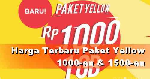 Apa Beda Paket yellow 1 GB Indosat Rp 1000 dan Rp 1500 ?